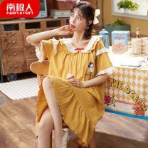 Nightdress NGGGN M [soft skin, high quality cotton], l [no pilling / no fading], XL [pajamas are different from ordinary clothes size], XXL [please contact customer service to recommend size], 3XL (shipping within 24 hours free freight insurance), 4XL [collection and purchase, priority shipping]