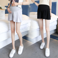 Maternity Pants / belly pants Xiao Xiaoxiao Light grey, black M,L,XL,XXL summer shorts Abdominal support Chiffon Versatile 2020 Whole stage
