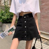 Women's large Summer 2021 Black Denim Skirt L [100-120 Jin], XL [120-140 Jin], XXL [140-160 Jin], XXXL [160-175 Jin], XXXXL [175-200 Jin] skirt