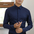 shirt Business gentleman Others 38,39,40,41,42,43,44 White, black, dark blue, gray, Navy, light blue, cobalt blue, pure white, pure black routine square neck Long sleeves Self cultivation go to work Four seasons PWCXA001 teenagers Cotton 60% polyester 40% Business Formal  2019 Solid color cotton