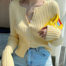 Wool knitwear Winter 2020 Average size Yellow, white, green, purple, black Long sleeves singleton  Cardigan other 81% (inclusive) - 90% (inclusive) Regular routine commute Self cultivation V-neck routine Single breasted Korean version 18-24 years old