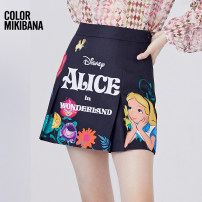skirt Spring 2021 S M L XL Black flowers Short skirt street Natural waist other Cartoon animation Type A 25-29 years old M11BK0694 More than 95% MIKIBANA polyester fiber printing Polyester 100% Same model in shopping mall (sold online and offline) Europe and America
