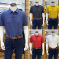 Polo shirt Lucadilon Business gentleman routine Off white, watermelon red, tannin blue, lemon yellow, smoke gray 46,48,50,52,54,56 standard Other leisure summer Short sleeve Business Casual middle age 2021 Solid color