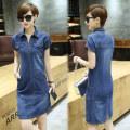 Dress Summer 2021 S,M,L,XL,2XL,3XL,4XL,5XL Short skirt singleton  Short sleeve commute middle-waisted routine More than 95%