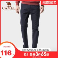 Casual pants Camel Fashion City routine trousers Other leisure Straight cylinder Micro bomb youth Basic public 2018 middle-waisted Straight cylinder Cotton 98% polyurethane elastic fiber (spandex) 2% Pocket decoration Solid color other Autumn of 2018
