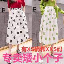 skirt Summer 2021 Xs, s, m, l, XL, XXS legal edition is too small 145-155 Green dots, black dots, yellow dots, red dots longuette Versatile High waist A-line skirt Dot Type A 18-24 years old More than 95% Zhenyaluo printing