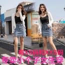 skirt Summer 2021 Xs, s, m, l, XL, XXS genuine small 145-155 Blue, black Short skirt commute High waist Denim skirt other Type A 18-24 years old More than 95% other Zhenyaluo other Korean version