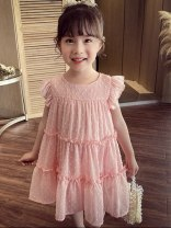 Dress White, pink female Other / other 80cm,90cm,100cm,110cm,120cm,130cm,140cm Other 100% summer Korean version Skirt / vest Solid color other A-line skirt QGZ210409-07 other Chinese Mainland Guangdong Province Dongguan City