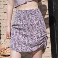 skirt Summer 2020 XS,S,M,L Yellow, blue, purple Short skirt Retro High waist Irregular Broken flowers Type A 18-24 years old 81% (inclusive) - 90% (inclusive) Chiffon EGGKA polyester fiber Fold, zipper, print 61G / m ^ 2 (including) - 80g / m ^ 2 (including)