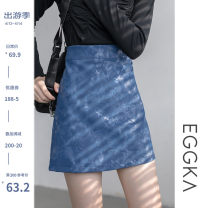 skirt Autumn 2020 S,M,L,XL Black, blue, purple Short skirt Versatile High waist A-line skirt Decor Type A 18-24 years old B20186-Q 31% (inclusive) - 50% (inclusive) other PU Zipper, water ripple, light proof