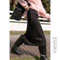 skirt Winter 2020 S,M,L,XL Black, brown Middle-skirt Versatile High waist A-line skirt Solid color Type A 18-24 years old B20314-F 71% (inclusive) - 80% (inclusive) EGGKA polyester fiber Asymmetric, zipper