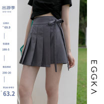 skirt Spring 2021 S,M,L Black, grey, khaki, size chart Short skirt commute High waist Pleated skirt Solid color Type A 18-24 years old B21068-Z 51% (inclusive) - 70% (inclusive) EGGKA Korean version