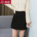 skirt Winter 2020 S M L XL XXL black Short skirt commute High waist skirt Solid color Type A 25-29 years old LT-D5306 More than 95% Wool Digression polyester fiber Pleated fold Ol style Polyester 100% Pure e-commerce (online only)