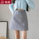 skirt Autumn 2020 S M L XL XXL Haggard Short skirt commute High waist A-line skirt lattice Type A 25-29 years old LT-D5256 More than 95% Wool Digression polyester fiber Pocket zipper Korean version Polyester 100% Pure e-commerce (online only)