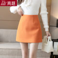 skirt Winter 2020 S M L XL XXL Orange blue apricot purple black Short skirt commute High waist A-line skirt Solid color Type A 25-29 years old LT-D5286 More than 95% Wool Digression polyester fiber zipper Korean version Polyester 100% Pure e-commerce (online only)