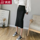 skirt Spring 2020 S M L XL XXL XXXL Mid length dress commute High waist skirt Solid color Type H 25-29 years old 51% (inclusive) - 70% (inclusive) other Digression cotton Split Korean version Cotton 60% polyester 35% polyurethane elastic fiber (spandex) 5% Pure e-commerce (online only)