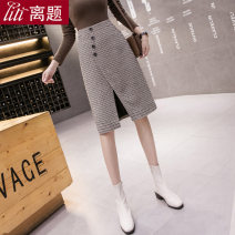 skirt Autumn 2020 S M L XL XXL Brown check Mid length dress sexy High waist Suit skirt lattice Type H 25-29 years old LT-D5203 71% (inclusive) - 80% (inclusive) Wool Digression polyester fiber Asymmetric button split Polyester 80% other 20% Pure e-commerce (online only)