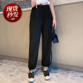 Casual pants black S,M,L Spring 2021 Ninth pants Haren pants High waist street Thin money 25-29 years old 91% (inclusive) - 95% (inclusive) LNXZ0325B02 other pocket Europe and America