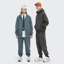 Sweater Youth fashion inflation Black, white, medium grey, floral grey, charcoal green, dark grey, khaki, grey blue M,L,XL Solid color Cardigan winter leisure time teenagers 2505W20A zipper