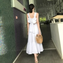 Dress Summer 2021 white S,M,L,XL Mid length dress singleton  Sleeveless Sweet camisole 18-24 years old Bohemia