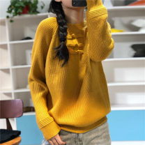 shirt Average size Autumn of 2019 wool 96% and above Long sleeves commute Regular Half high collar Socket routine Solid color literature