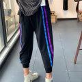 Casual pants M,L,XL Summer 2020 Ninth pants Haren pants High waist original routine 96% and above cotton cotton
