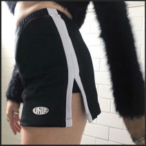 skirt Spring of 2019 S,M,L black Short skirt street A-line skirt stripe Type A other Europe and America