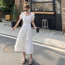 Dress Summer 2021 White, black S, M longuette singleton  Short sleeve commute High waist Solid color zipper other puff sleeve Others 18-24 years old Type A Other / other Korean version 31% (inclusive) - 50% (inclusive) other other