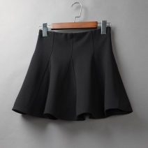 skirt Spring 2021 S,M,L,XL,2XL Black (cotton) Short skirt Versatile High waist A-line skirt Solid color Type A 25-29 years old 71% (inclusive) - 80% (inclusive) brocade Other / other cotton 161g / m ^ 2 (including) - 180g / m ^ 2 (including)