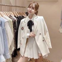 Fashion suit Autumn 2020 S,M,L White coat + skirt, grey coat + skirt, black coat + skirt, grey coat + skirt + white shirt, black coat + skirt + white shirt, white coat + skirt + shirt 18-25 years old 51% (inclusive) - 70% (inclusive)