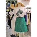 T-shirt green S,M,L,XL Summer 2020 Short sleeve Crew neck easy Medium length routine commute cotton 86% (inclusive) -95% (inclusive) Korean version originality Animal patterns, letters