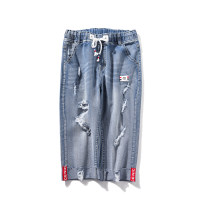 Women's large Summer 2021 blue Large XL, 2XL, 3XL, 4XL, 5XL Jeans singleton  easy moderate cotton Three dimensional cutting Beauty trends 25-29 years old 81% (inclusive) - 90% (inclusive) Cropped Trousers