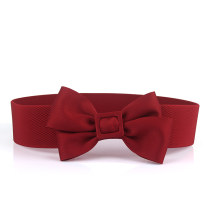 Belt / belt / chain cloth Dark blue, red, black, white, pink female Waistband Versatile Single loop Youth, youth, middle age Smooth button bow soft surface alloy Bare body, knitting, heavy thread decoration, bowknot, elastic