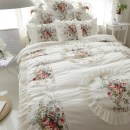 Bedding Set / four piece set / multi piece set cotton Quilting, other Plants and flowers 133x72 Other / other cotton 4 pieces 40 1.5m (5 feet) bed, 2.2m (7 feet) bed, 2.0m (6.6 feet) bed, 1.8m (6 feet) bed, 1.2m (4 feet) bed Bedspread type Qualified products Princess style 100% cotton twill