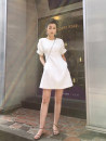 Dress Summer 2020 White, black, collection, add shopping cart, pay for small gifts S,M,L,XL,2XL Mid length dress singleton  Short sleeve commute Crew neck High waist Solid color Socket A-line skirt routine Others 18-24 years old Type A Korean version Polyester fabric other