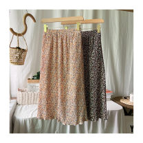 skirt Spring 2021 Average size Decor 3, decor 2, decor 1 Mid length dress commute Natural waist Pleated skirt Broken flowers Type A 25-29 years old 51% (inclusive) - 70% (inclusive) Chiffon polyester fiber Fold, pocket, print