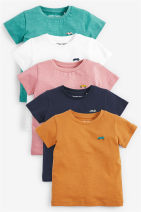 T-shirt book Next 3-6M(62-68cm),6-9M(68-74cm),9-12M(74-80cm),12-18M(82-86cm),1.5-2T(86-92cm),2-3T(92-98cm),3-4T(98-104cm),4-5T(104-110cm),5-6T(110-115cm),6-7T (116-122cm) neutral summer Short sleeve Crew neck leisure time No model nothing cotton Solid color Cotton 100% Sweat absorption