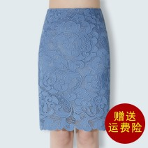 skirt Spring 2020 S,M,L,XL,2XL,3XL,4XL Middle-skirt commute High waist skirt Solid color Type A 25-29 years old 91% (inclusive) - 95% (inclusive) Lace Reading clothes polyester fiber Hollow, three-dimensional decoration, zipper, stitching, lace Korean version