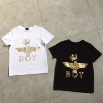 T-shirt Crown T-shirt black gold, crown T-shirt white gold, full Print Shorts Black Gold, full Print Shorts Black and white Other / other 110cm,120cm,130cm,140cm,150cm,160cm,170cm neutral summer Short sleeve Crew neck Europe and America No model nothing Pure cotton (100% cotton content) other Class A