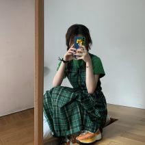 Fashion suit Summer 2020 Average size Green short sleeves, short green check, long green check Sakura Kawabata #227 71% (inclusive) - 80% (inclusive)