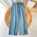 Jeans Spring 2021 Dark blue, light blue 25,26,27,28,29,30,31 trousers High waist Straight pants routine Dark color Other / other
