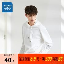 Sweater Youth fashion JeansWest S,M,L,XL,XS,XXL,XXXL other Socket routine Hood autumn Straight cylinder leisure time youth Youthful vigor routine Fleece  Cotton 97% polyurethane elastic fiber (spandex) 3% cotton printing other More than 95%