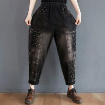 Casual pants Picture Decor M [recommended 95-120 kg], l [recommended 120-145 kg], XL [recommended 145-170 kg], 2XL [recommended 170-200 kg] Autumn 2020 trousers Haren pants High waist Versatile routine 25-29 years old 81% (inclusive) - 90% (inclusive) Other / other cotton pocket cotton