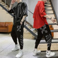 T-shirt Youth fashion thin M L XL 3XL XXL King Fuding Long sleeves Hood easy Other leisure autumn TZ65 Polyester 95% polyurethane elastic fiber (spandex) 5% youth Bat sleeve Hip hop Knitted fabric Spring of 2019 Alphanumeric printing polyester fiber The thought of writing Domestic non famous brands