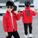 Jacket Other / other Youth fashion Red, black 100cm, 110cm, 120cm, 130cm, 140cm and 150cm respectively routine standard Other leisure spring 179kk printed jacket Cotton 89% others 11% Long sleeves Wear out stand collar tide routine Zipper placket 2021 Cloth hem washing Closing sleeve Color block