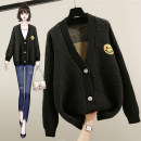 Wool knitwear Autumn 2020 M L XL BEIGE BLACK Long sleeves singleton  Cardigan other More than 95% Regular routine Sweet easy V-neck routine Cartoon animation Single breasted Lanwei Other 100% Pure e-commerce (online only)