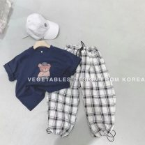 trousers Other / other neutral 110cm,120cm,130cm,140cm,150cm,160cm summer trousers leisure time There are models in the real shooting Casual pants Leather belt middle-waisted cotton Don't open the crotch Other 100% Class B Chinese Mainland