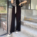 Women's large Spring 2021, summer 2021 black , Rice white , Black [pre-sale 7] - [15 working days] , Mibai [pre-sale 7] - [15 working days] Large XL, large XXL, large XXL, large XXXXL, large XXXXL trousers singleton  commute easy moderate Solid color Korean version Polyester, others Collage Monica