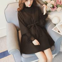 Dress Autumn of 2018 No lace in khaki, no lace in black, no lace in caramel, random lucky bag S,M,L,XL Mid length dress singleton  Long sleeves commute Socket 18-24 years old Other / other Korean version 51% (inclusive) - 70% (inclusive)