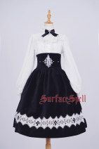 skirt Autumn of 2018 S. M, l, XL, custom size Black, Navy Mid length dress victoria High waist Little black dress character Type A 81% (inclusive) - 90% (inclusive) velvet Other / other cotton